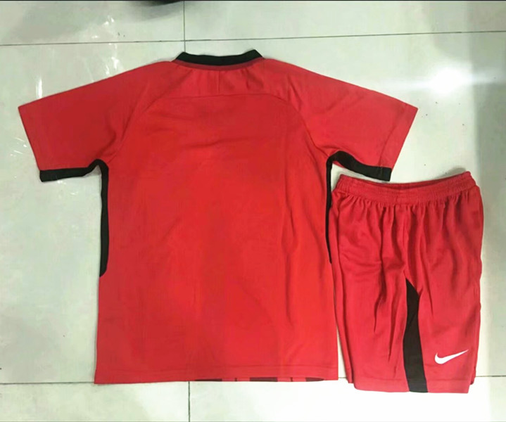 5a92421ca85 2018-19 Shanghai SIPG Home Red Youth-Kid Soccer Uniform