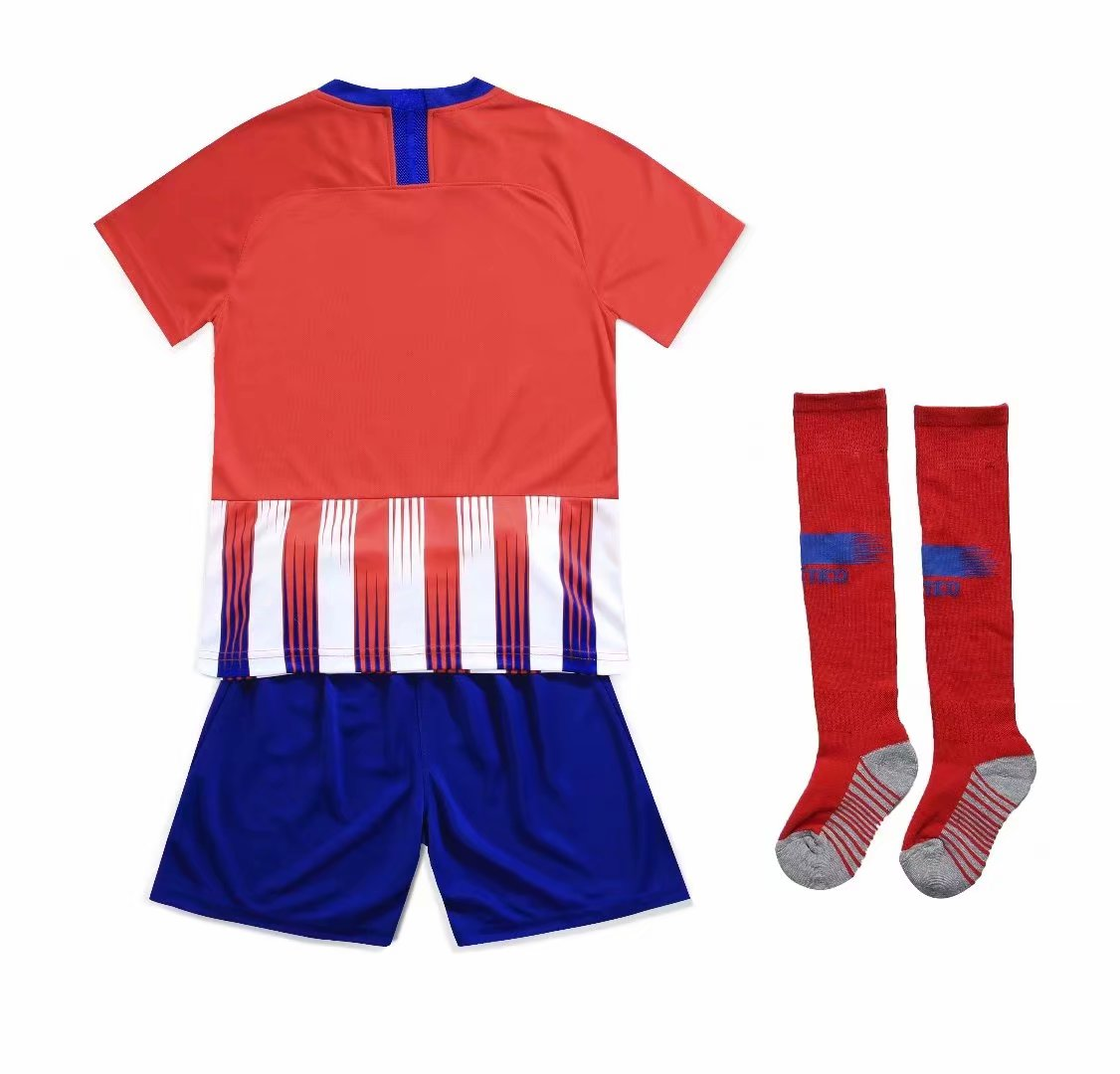 c68c0fec305 2018-19 Atletico Madrid Home Red White Without Logo Kid Youth Soccer ...