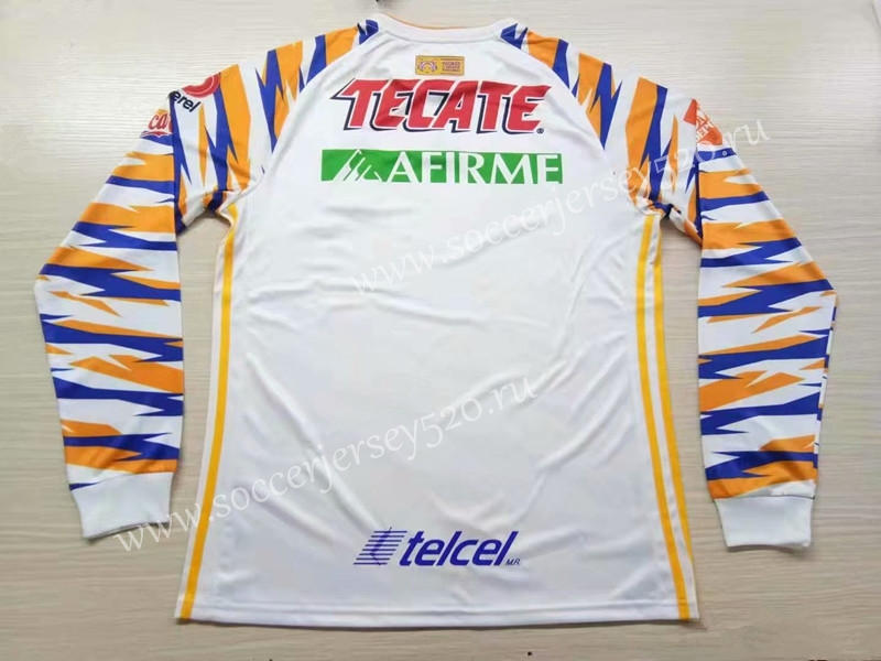 on sale 13f63 eedac 2019-20 Tigres UANL 2nd Away Yellow&White Thailand LS Soccer Jersey AAA