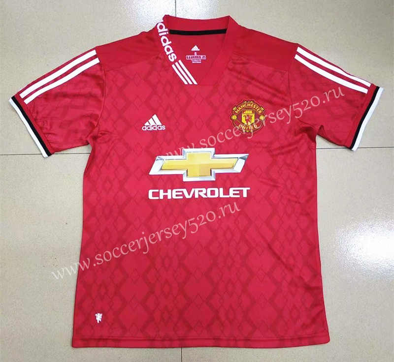 2019 2020 Manchester United Home Red Gannian Version