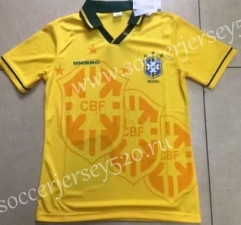 Retro version 1994 Season Brazil Home Yellow Tailand Soccer Jersey AAA-912