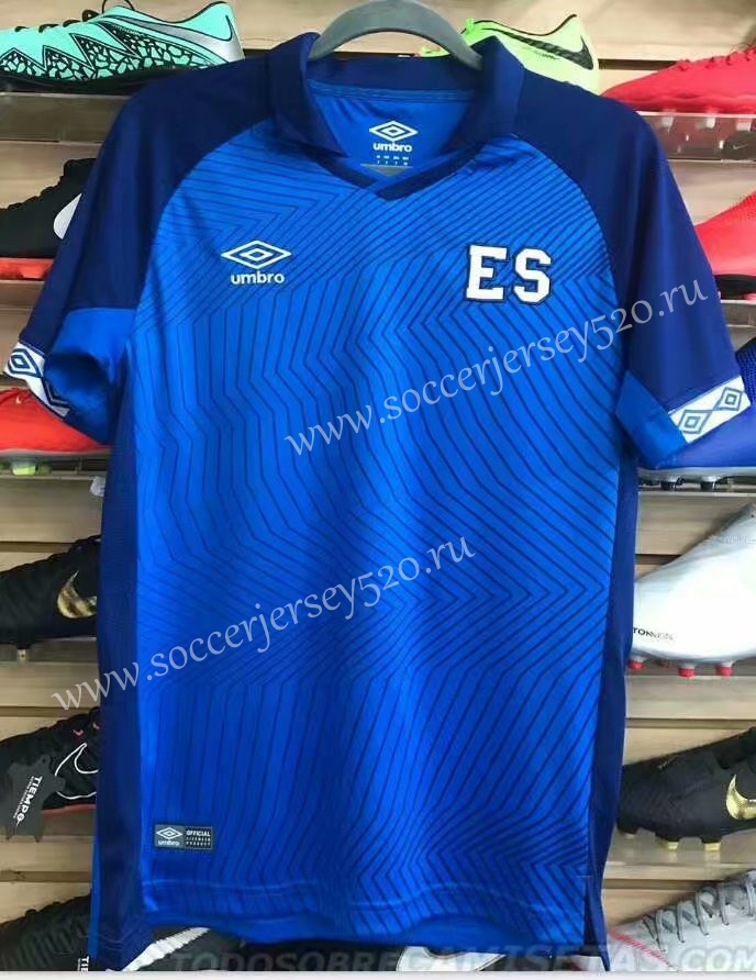 low priced c58ce 995fd 2019-2020 El Salvador Home Blue Thailand Soccer Jersey AAA-416