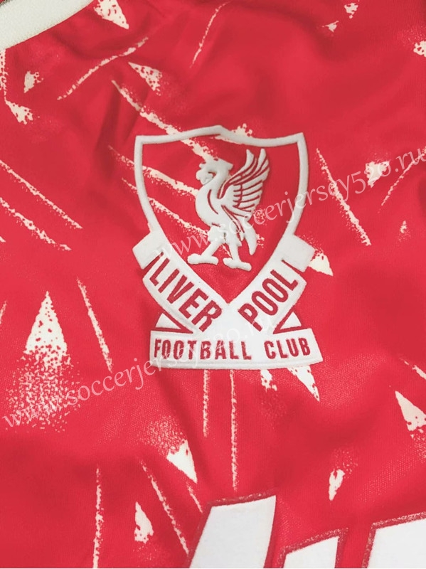 e265f1a4e 1989 Season Liverpool Red Retro version Thailand Soccer Jersey AAA ...