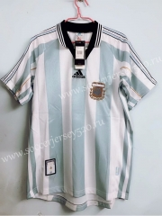 7b509d2d4 1998 Season Argentina Home Blue and White stripes Retro version Thailand  Soccer Jersey AAA-811