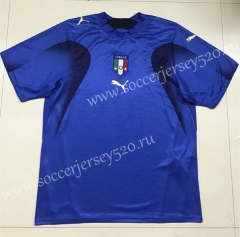 Retro Version 2006 Italy Home Blue Thailand Soccer Jersey AAA-SL