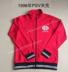Retro Version 1998 PSV Eindhoven Red Thailand Soccer Jacket-AY