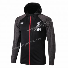 2019-2020 Liverpool Black Thailand Soccer Jacket With Hat-815