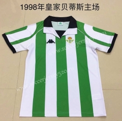 Retro Version 1998 Real Betis Home White&Green Thailand Soccer Jersey AAA-DG