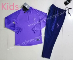2019-2020 Tottenham Hotspur Purple Kids/Youth Tracksuit Uniform-GDP