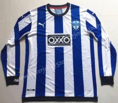 Commemorative Edition Monterrey Blue&White Stripe LS Thailand Soccer Jersey AAA-912