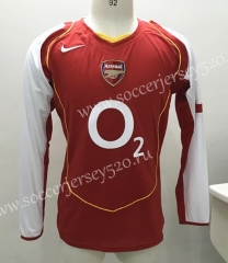 Retro Version 2004-2005 Arsenal Home Red Thailand LS Soccer Jersey AAA-SL