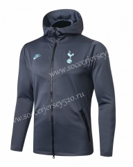 2019-2020 Tottenham Hotspur Gray Thailand Soccer Jacket With Hat-815
