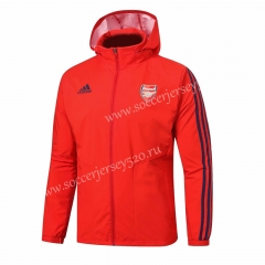 2019-2020 Arsenal Red Trench Coats With Hat-815