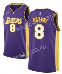 Los Angeles lakers #8 Purple V Collar NBA Jersey
