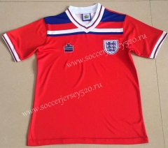 Retro Version 1980 England Away Red Thailand Soccer Jersey AAA-AY