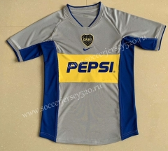 Retro Version 2002 Boca Juniors Away Gray Thailand Soccer Jersey AAA-709