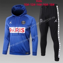 2020-2021 Jordan Paris SG Blue Kids/Youth Tracksuit With Hat-815