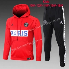 2020-2021 Jordan Paris SG Red Kids/Youth Tracksuit With Hat-815