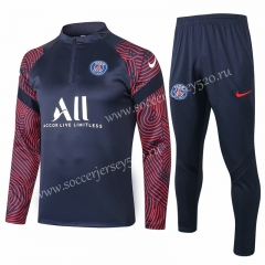 2020-2021 Paris SG Royal Blue Thailand Soccer Tracksuit-815