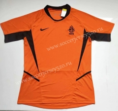 Retro Version 2002 Netherlands Orange Thailand Soccer Jersey AAA-912