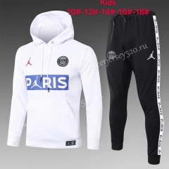 2020-2021 Jordan Paris SG White Kids/Youth Tracksuit With Hat-815
