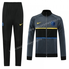 Player Version 2020-2021 Inter Milan Gray Thailand Jacket Unifrom-LH