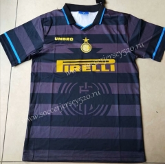 Retro Version 1998 Inter Milan Away Black Thailand Soccer Jersey AAA-912