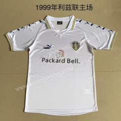 Retro Version 1999 Leeds United Home White Thailand Soccer Jersey AAA-XY