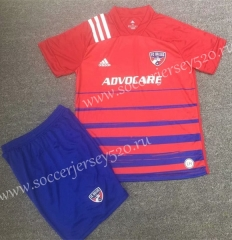 2020-2021 FC Dallas Red Soccer Uniform-XY