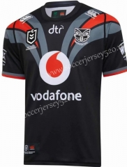 2020 Warriors Black Rugby Shirt