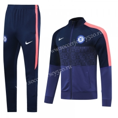 Player Version 2020-2021 Chelsea Royal Blue Thailand Soccer Jacket Uniform-LH