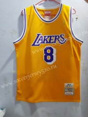 Honor Edition Lakers Yellow #8 NBA Jersey