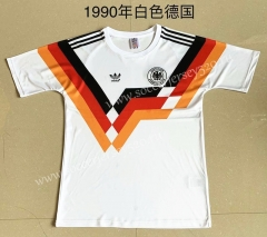 Retro Version 1990 Germany Home White Thailand Soccer Jersey AAA-709