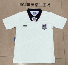 Retro Version 1994 England Home White Thailand Soccer Jersey AAA-709
