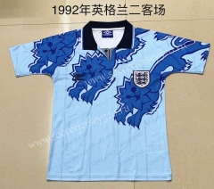 Retro Version 1992 England 2nd Away Blue Thailand Soccer Jersey AAA-709