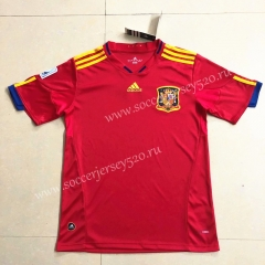 Retro Version 2010 Spain Home Red Thailand Soccer Jersey AAA