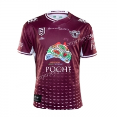 2020-2021 Manly Warringah Sea Eagles Dark Red NINES Thailand Rugby Shirt