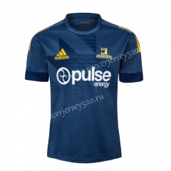 2020-2021 Highlanders Royal Blue Traning Rugby Shirt