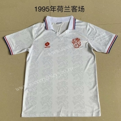 Retro Version 1995 Netherlands Away White Thailand Soccer Jersey AAA-AY