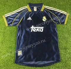 Retro Version 1998-2000 Real Madrid Away Black Thailand Soccer Jersey AAA-503