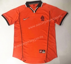 Retro Version 1998 Netherlands Home Orange Thailand Soccer Jersey AAA-912