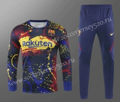 2020-2021 Barcelona Blue&Red&Yellow Thailand Soccer Tracksuit-418