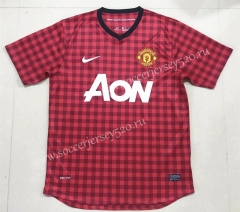 Retro Version 2012-2013 Manchester United Home Red Thailand Soccer Jersey AAA-908