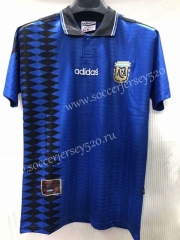 Retro Version 1994 Argentina Away Blue Thailand Soccer Jersey AAA-905