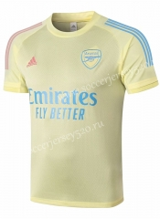 2020-2021 Arsenal Yellow Short-Sleeve Thailand Soccer Tracksuit-815