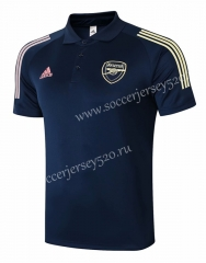 2020-2021 Arsenal Royal Blue Short-Sleeve Thailand Soccer Tracksuit-815