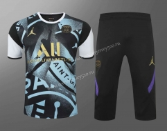 2020-2021 Jordan Paris SG Black&Blue Thailand Training Soccer Uniform-418
