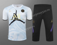 2020-2021 Jordan Paris SG White Thailand Training Soccer Uniform-418