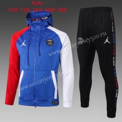 2020-2021 Jordan Paris SG Blue Kids/Youth Soccer Jacket Uniform-815