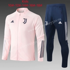 2020-2021 Juventus Pink Kids/Youth Soccer Jacket Uniform-815